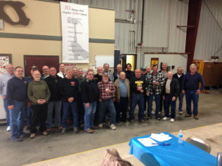 large group of Carpenter's Union Local members